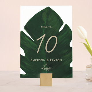 Palm Wedding Table Numbers