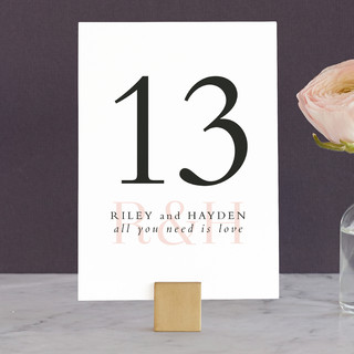 over and over Wedding Table Numbers