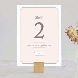 Subtly Sweet Wedding Table Numbers