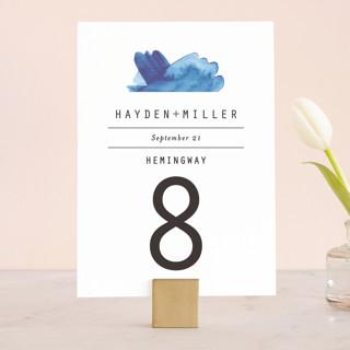 Modern Water Wedding Table Numbers