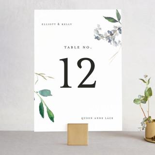 Spring Wildflowers Wedding Table Numbers