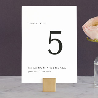 Sketched Mountains Wedding Table Numbers