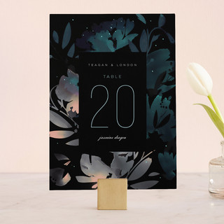 Midnight Garden Wedding Table Numbers