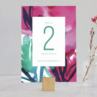 Airy Blooms Wedding Table Numbers