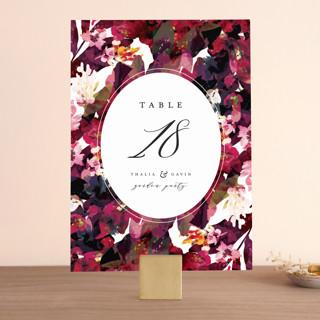 Tidal Blooms Wedding Table Numbers