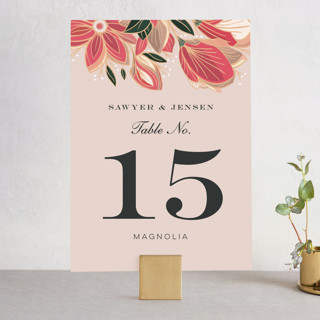 Sawyer Wedding Table Numbers