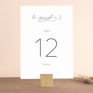 Forever And Wedding Table Numbers