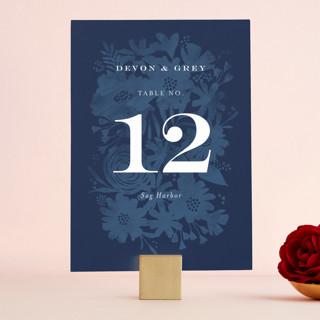 Floral screenprint Wedding Table Numbers