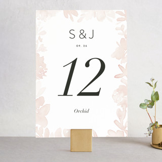 Etheral Bouquet Wedding Table Numbers