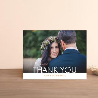 Minimalist Display Thank You Postcards