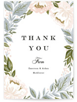Peony Floral Frame Thank You Postcards