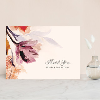 Grecian Floral Thank You Postcards
