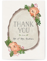 Rustic Wooded Romance Thank You Postcards