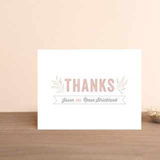 Rustic Charm Thank You Postcards