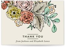 Dahlia Bouquet Thank You Postcards