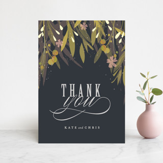 Floral Crown Thank You Postcards