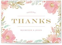 Floral Vignette Thank You Postcards