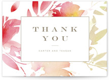 Stately Florals Thank You Postcards