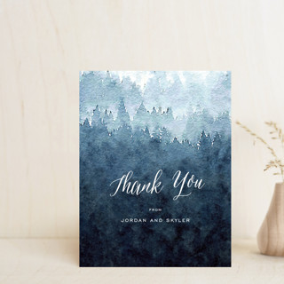 Mountain Retreat Thank You Postcards