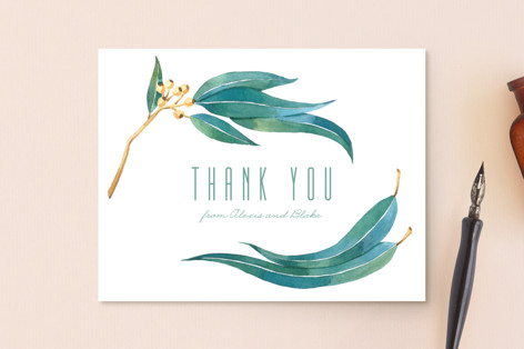 Eucalyptus Leaves Thank You Postcards