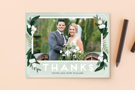Botanical Name Plate Thank You Postcards