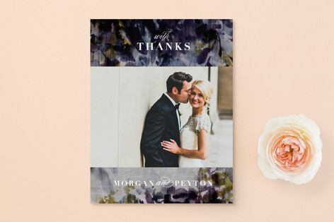 velvet burnout floral Thank You Postcards