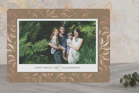 Happy Harvest Foil-Pressed Thanksgiving Cards