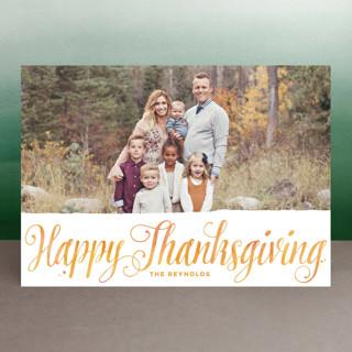 Autumn Script Thanksgiving Cards