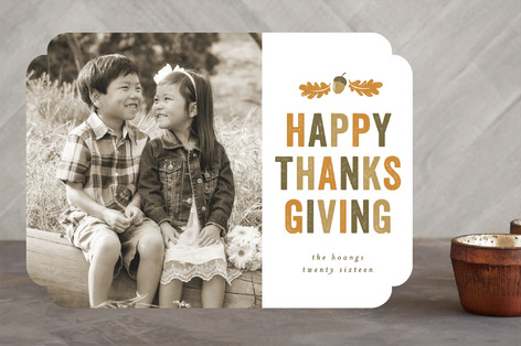 Fall Crest Thanksgiving Cards