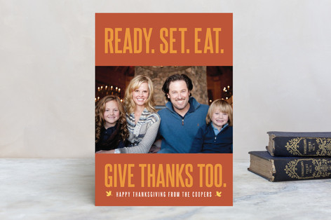 Ready, Set, Eat Thanksgiving Cards