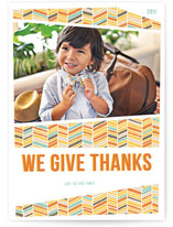 Herringbone Thanksgiving Thanksgiving Cards