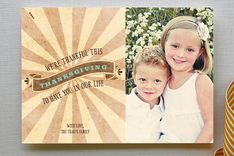 Rustic Thanksgiving Thanksgiving Cards