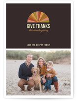 Colorful Geometry Thanksgiving Cards