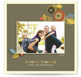 Falling Acorns Thanksgiving Cards