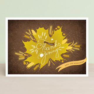 Thanksgiving Leaf Thanksgiving Cards