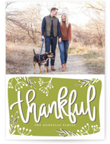 Thankful Script Thanksgiving Cards