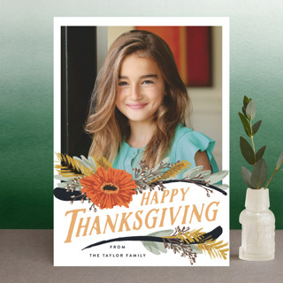 Straw Flower Swoops Thanksgiving Postcards