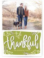 Thankful Script Thanksgiving Postcards