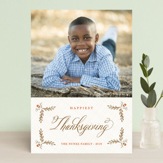 Burlap Label Thanksgiving Postcards