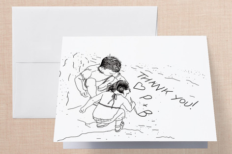 Playing in the Sand Thank You Cards