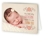 Little Baby Says Thank You Cards