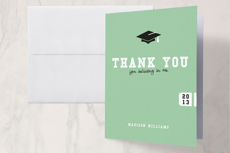 Fancy that Grad Hat Thank You Cards
