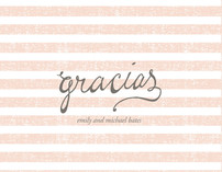 Gracias Stripes Thank You Cards