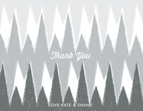 Happy Ikat Thank You Cards