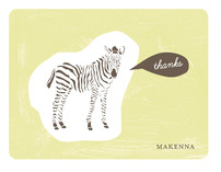 Zebra Cutout Thank You Cards