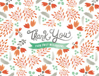 Blooms &amp; Plumes Thank You Cards