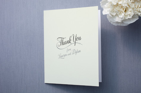 Just My Type Thank You Cards