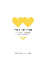 Bottom of Our Hearts Thank You Cards