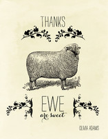 Ewe are Sweet Thank You Cards