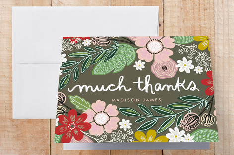 Woodland Thanks Thank You Cards